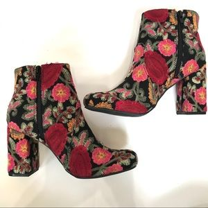 Brand New Embroidered Mia Booties